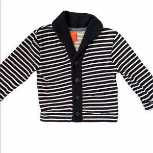NEW 2T Boys Striped Button Down Sweater